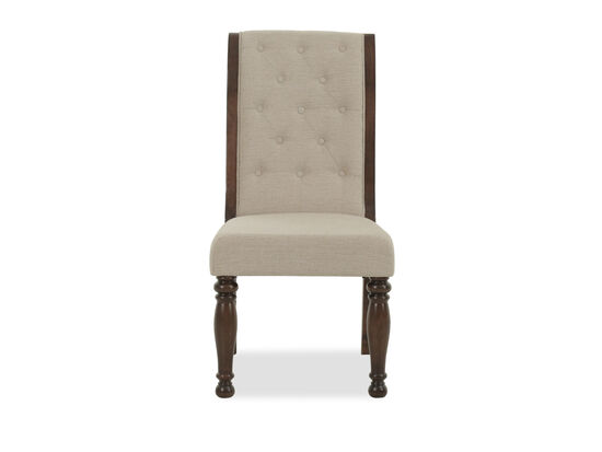 Diamond Button-Tufted 41'' Dining Side Chair in Cream