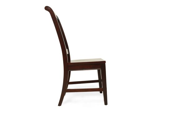 Sculpted Back Transitional Youth Desk Chair in Espresso