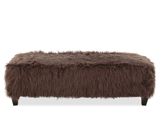 "Casual 58"" Rectangular Ottoman in Brown"