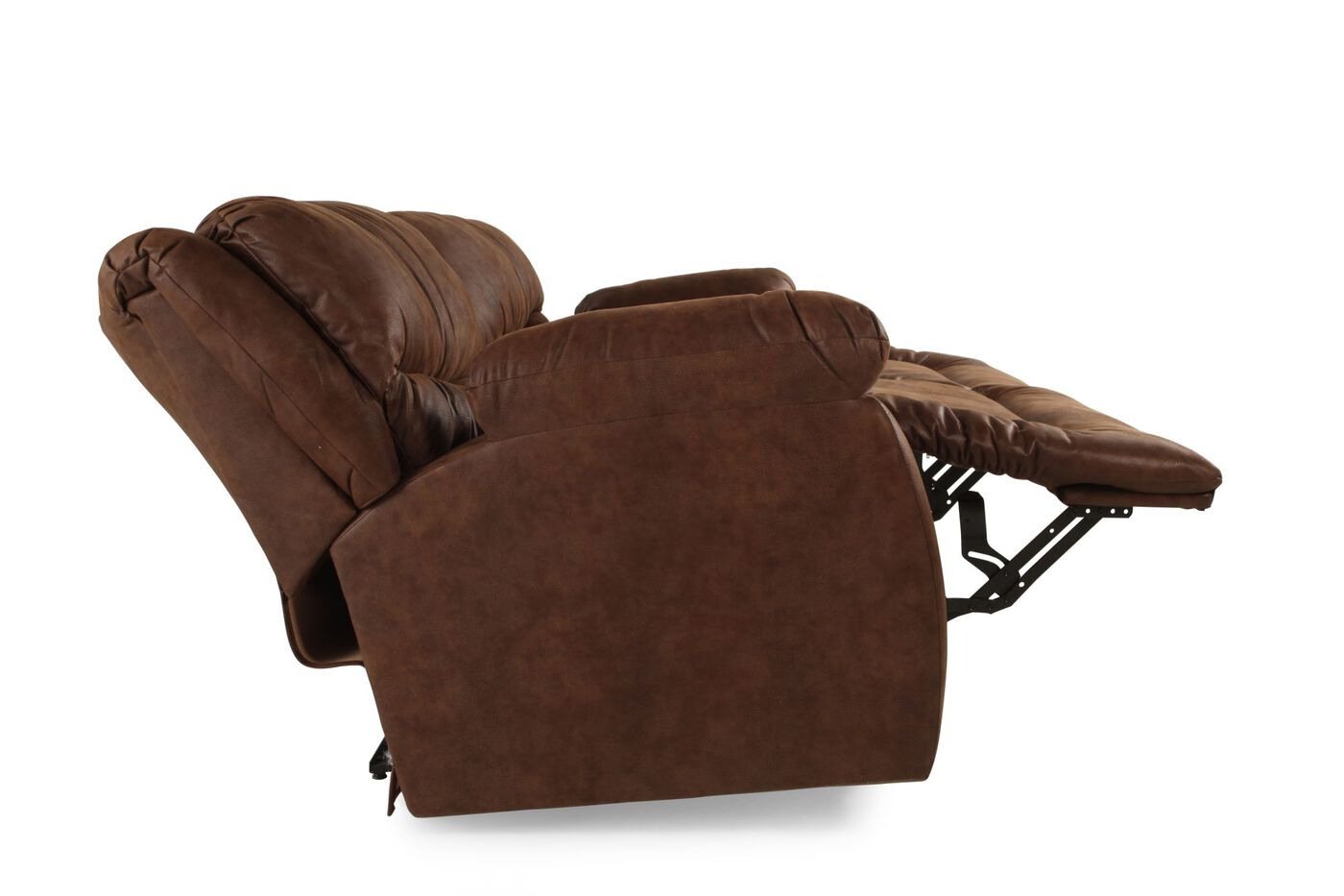Reclining Microfiber Sofa In Dark Brown Mathis Brothers Furniture
