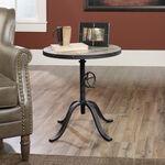 Round Traditional Pedestal Tablein Brown