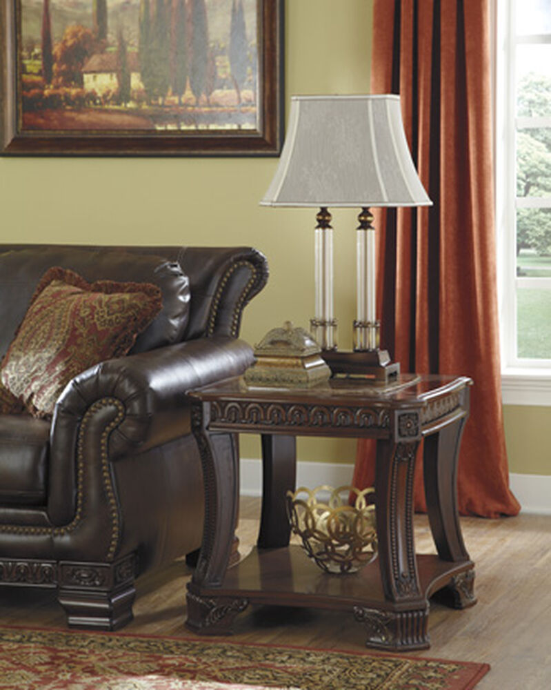 Traditional Square End Table In Dark Cherry Mathis Brothers Furniture