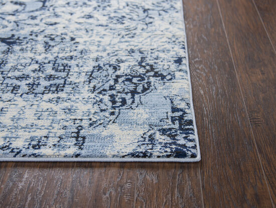 Transitional Power-Loomed 3.3 x 5.3 Rectangle Rug in Ivory