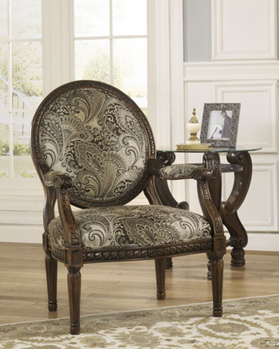 """Paisley Patterned Traditional 29"""" Accent Chair"""