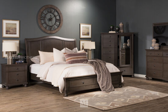 """45"""" Transitional Eight-Drawer Chesser in Peppercorn"""