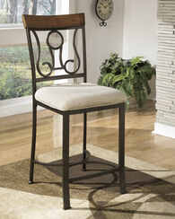 Ashley Hopstand Brown Upholstered Bar Stool