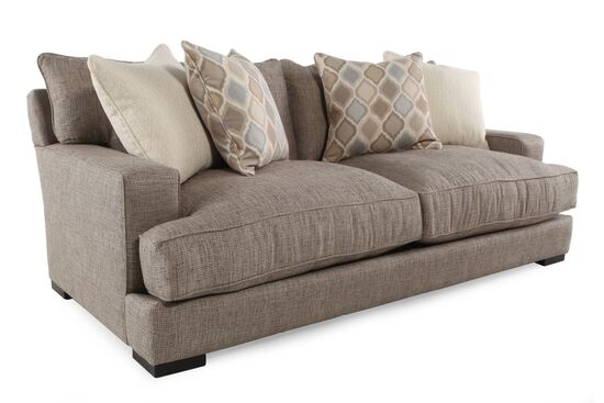 Contemporary Low Profile 47 Sofa In Taupe Mathis Brothers Furniture