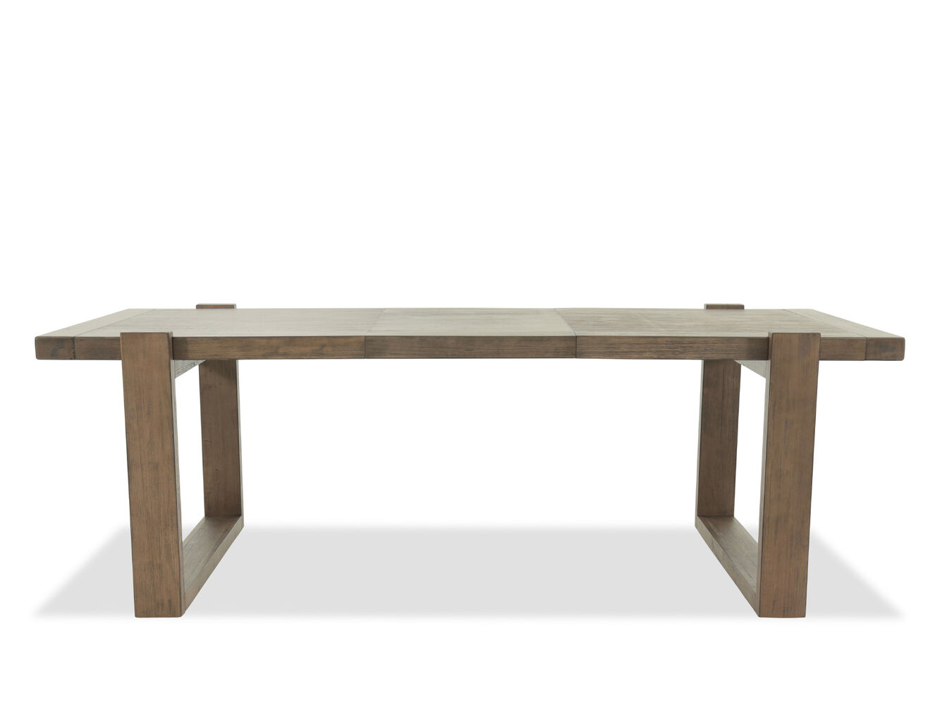 Contemporary 40 to 66 planked rectangular dining table for Contemporary rectangular dining table