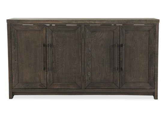 36'' Four-Door Casual Accent Cabinet in Brown