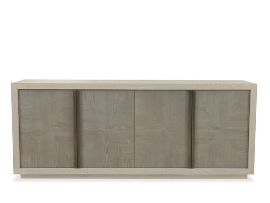 """Traditional 80"""" Credenza in Dark Brown"""