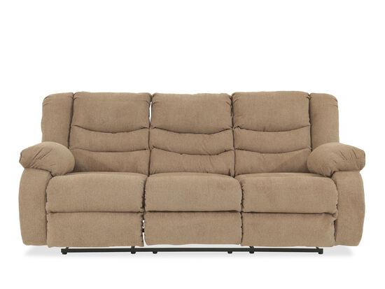 """Contemporary 87"""" Reclining Sofa in Mocha"""