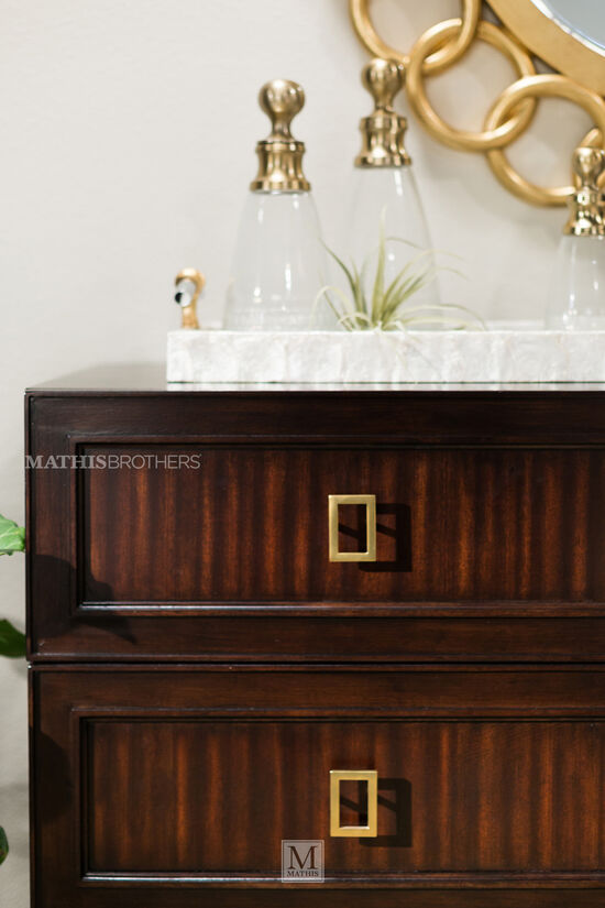 """41"""" Metropolitan Chain Linked Accent Mirror in Gold Leaf"""