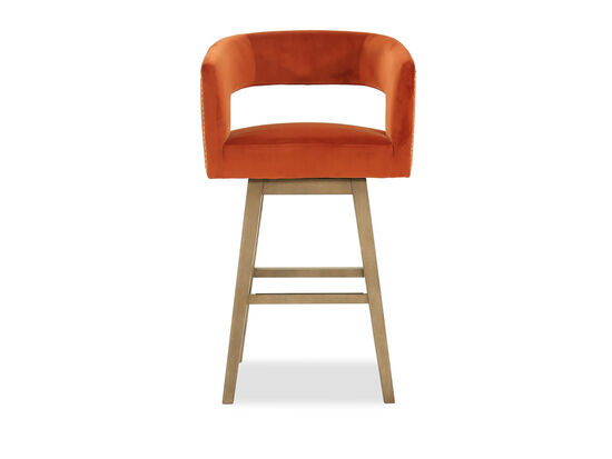 Cutout Back Barstool in Orange