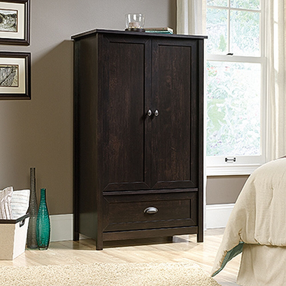 57 Contemporary Armoire In Estate Black Mathis Brothers Furniture
