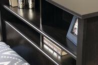 MB Home Canton Estate Black Twin Bookcase Headboard
