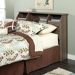 "Contemporary 42"" Full/Queen Bookcase Headboard in Diamond Ash"