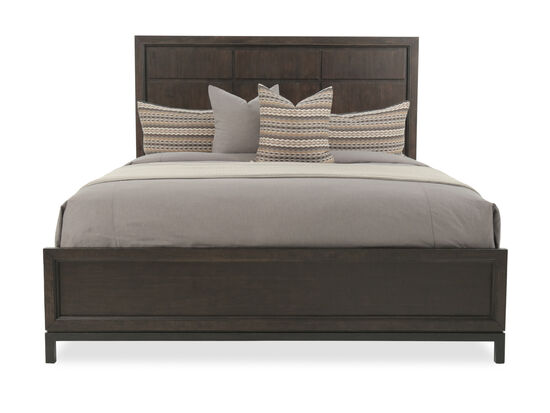 "64.5"" Contemporary Beveled Panel Bed in Espresso"