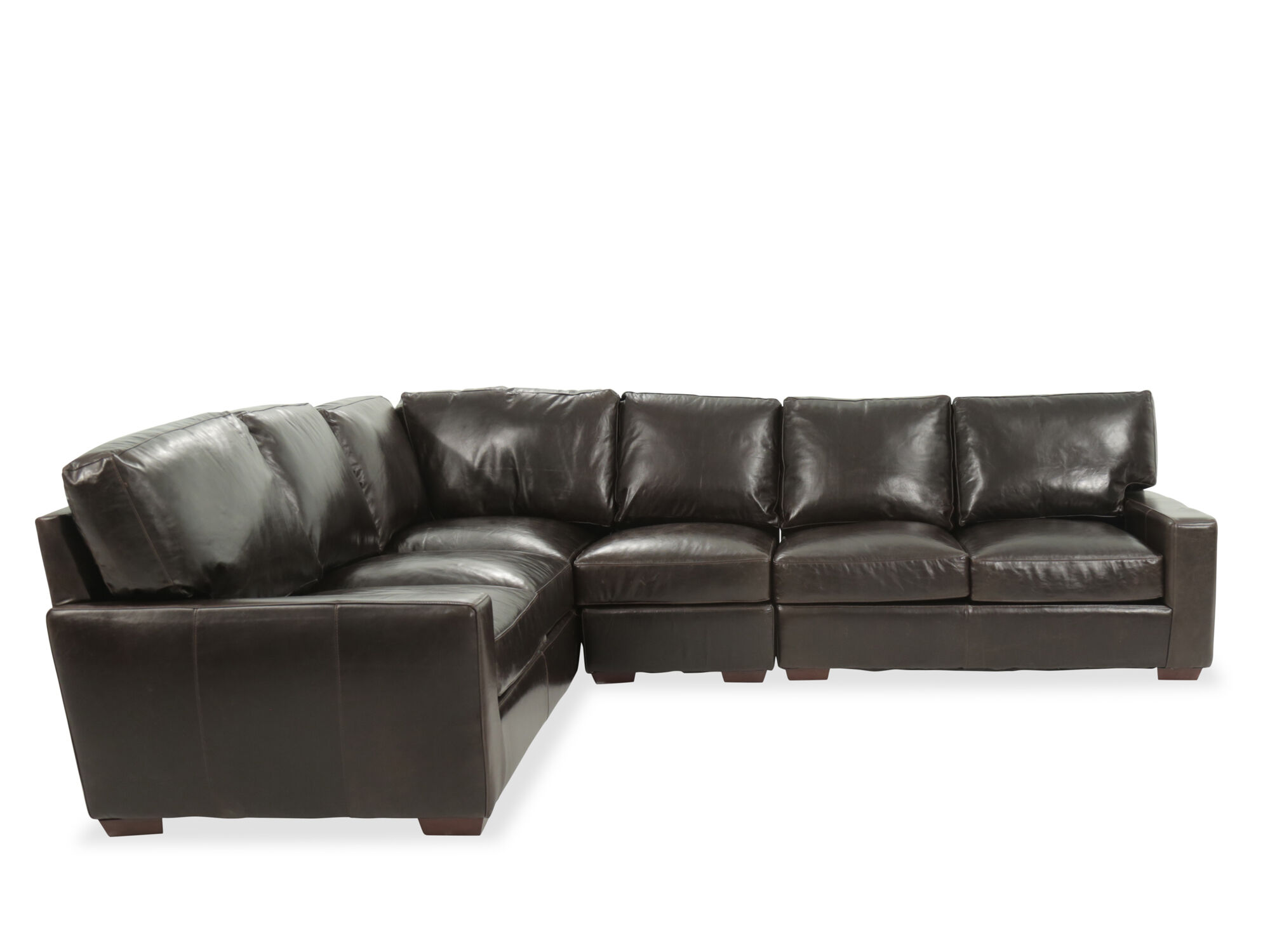 usa leather brompton tobacco fourpiece sectional
