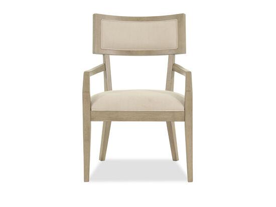 Curvy Back 38'' Arm Chair in Beige