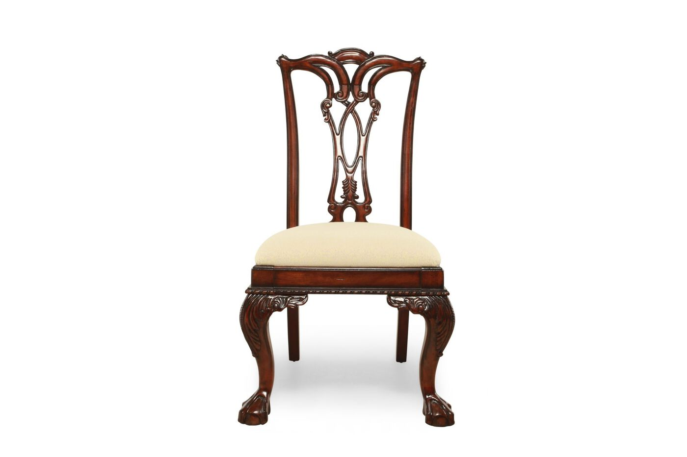 Engraved Traditional Desk Chair in Cherry | Mathis Brothers Furniture