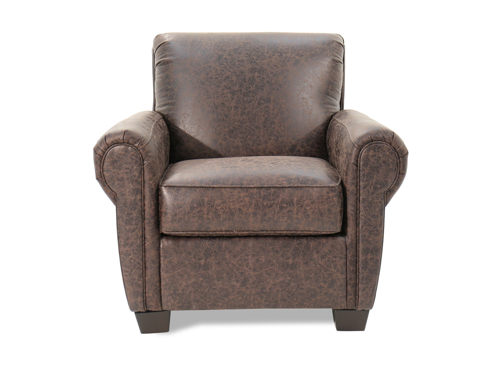 Images Distressed Traditional 38u0026quot; Accent Chair In Brown Distressed  Traditional 38u0026quot; Accent Chair In Brown