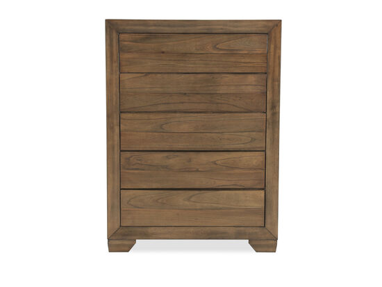 "48"" Five-Drawer Contemporary Chest in Rich Brown"