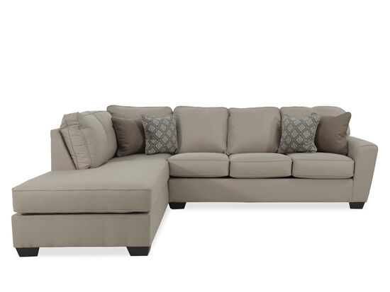"Two-Piece Contemporary 115"" Sectional in Beige"
