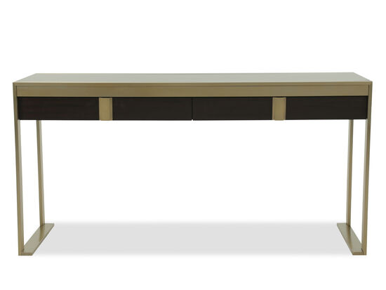 "60"" Traditional Two-Drawer Console Desk in Mahogany"