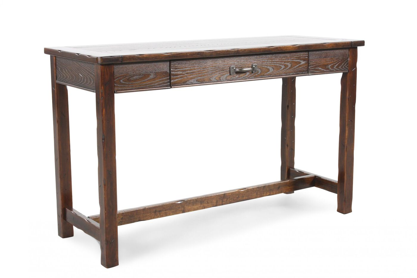 One drawer contemporary sofa table in cherry mathis - Contemporary console tables with drawers ...