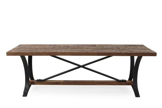 """52"""" Country X-Bench in Brown"""