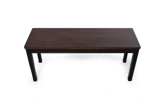 """Casual 42"""" Dining Bench in Black"""