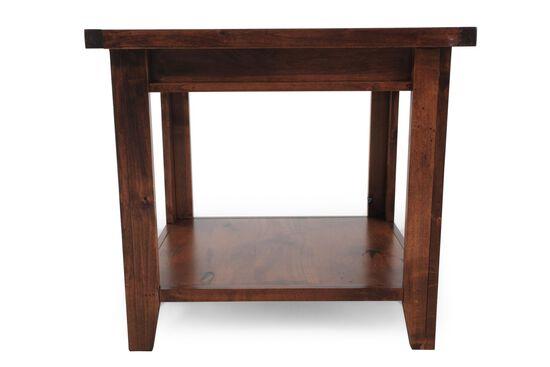 Rectangular Casual End Tablein Medium Brown