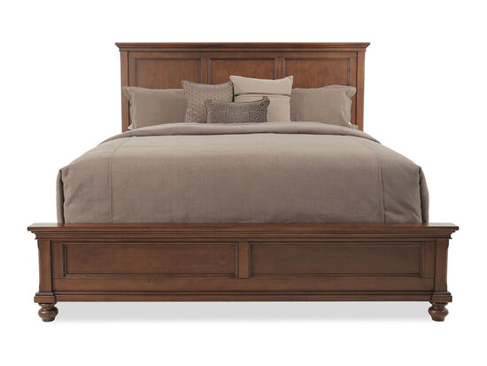 """62"""" USB Charging Transitional Panel Bed in Whiskey Brown"""