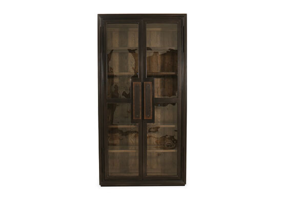 "82"" Casual Display Cabinet in Dark Wood"