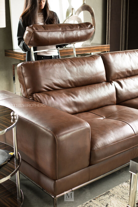 Two-Piece Leather Sectional in Brown