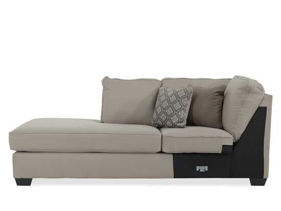 """Contemporary 36"""" Right Arm Facing Chaise in Beige"""