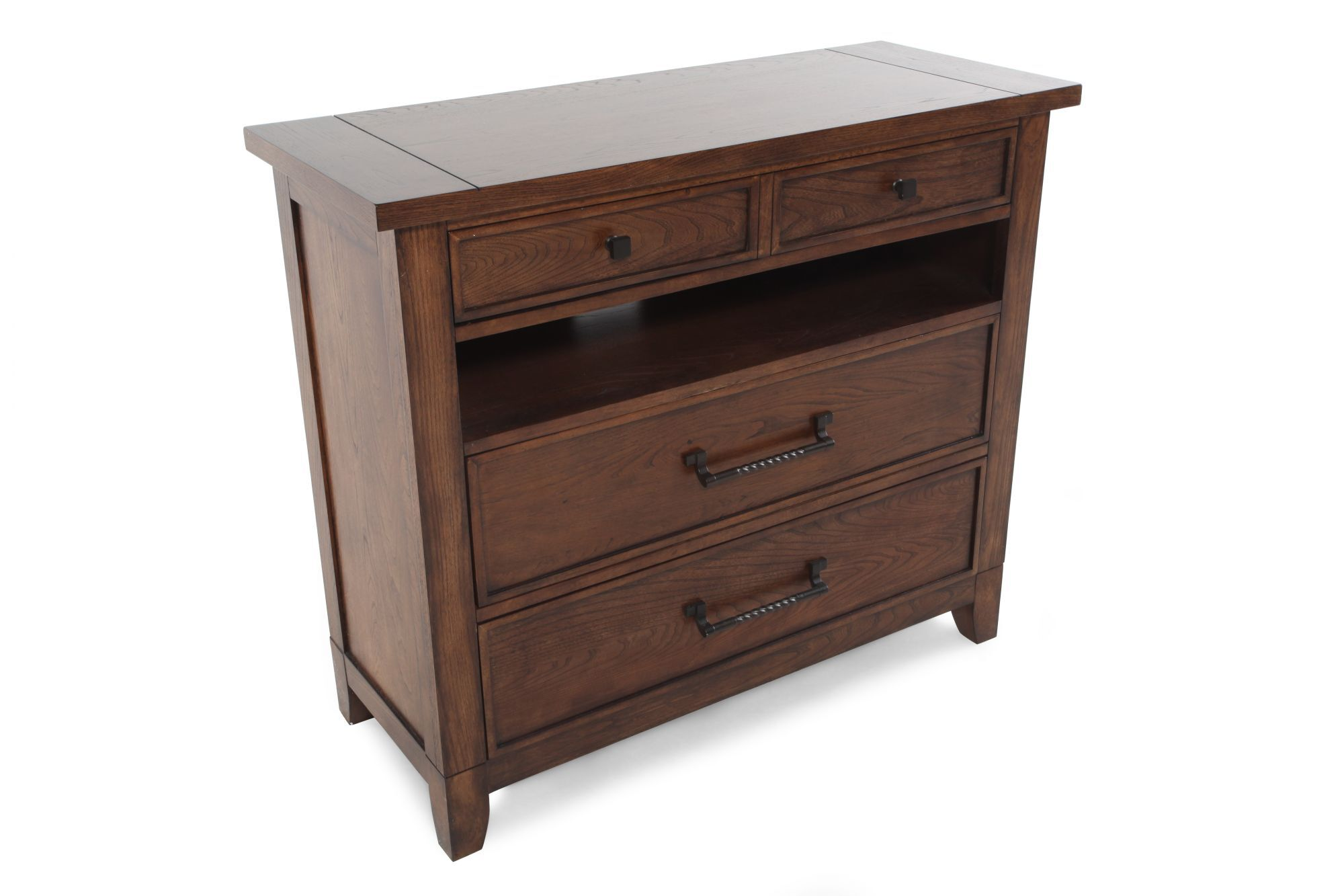 38u0026quot; Solid Rubberwood Media Chest In Hearthside