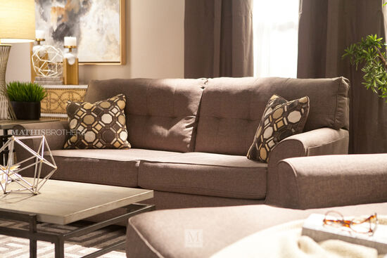 Contemporary Button Tufted 78 Quot Sofa In Slate Mathis