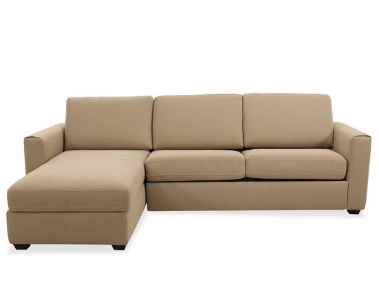 "107"" Casual Storage Sleeper Sectional in Brown"