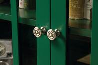 MB Home Malibu Emerald Green Display Cabinet