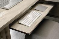 MB Home Office Central Chalked Chestnut L- Shaped Desk