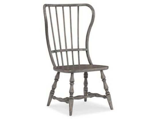 Spindle Back 43'' Side Chair in Antique Gray