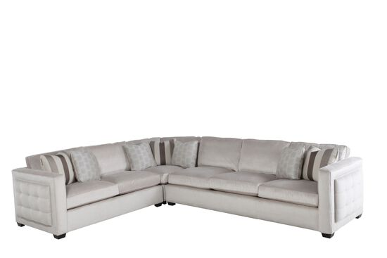 Three-Piece Contemporary Sectional in Cream