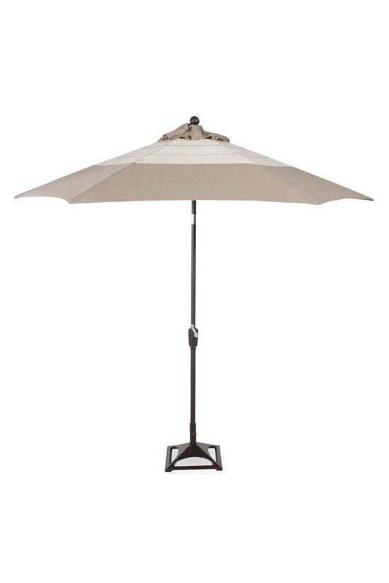 Contemporary Cut-Out Base Umbrellain Cream