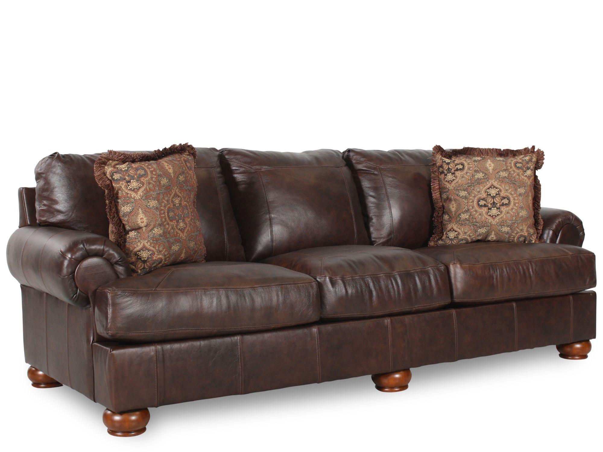 Traditional 100u0026quot; Sofa In Dark Walnut