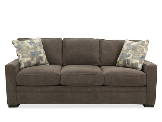 Casual Queen Sleeper Sofa in Brown