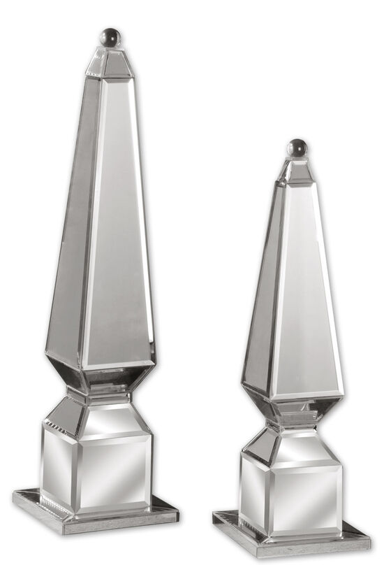Two-Piece Mirrored Finials