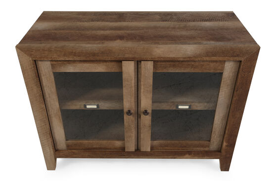 Two-Door Casual Display Cabinet in Oak