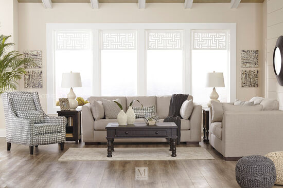 """Contemporary 68"""" Loveseat in Gray"""