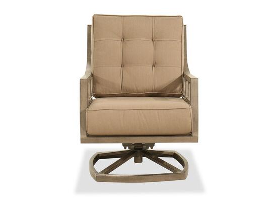 Aluminum Swivel Rocker Chair in Gray